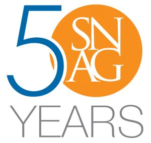 SNAG 50 years logo