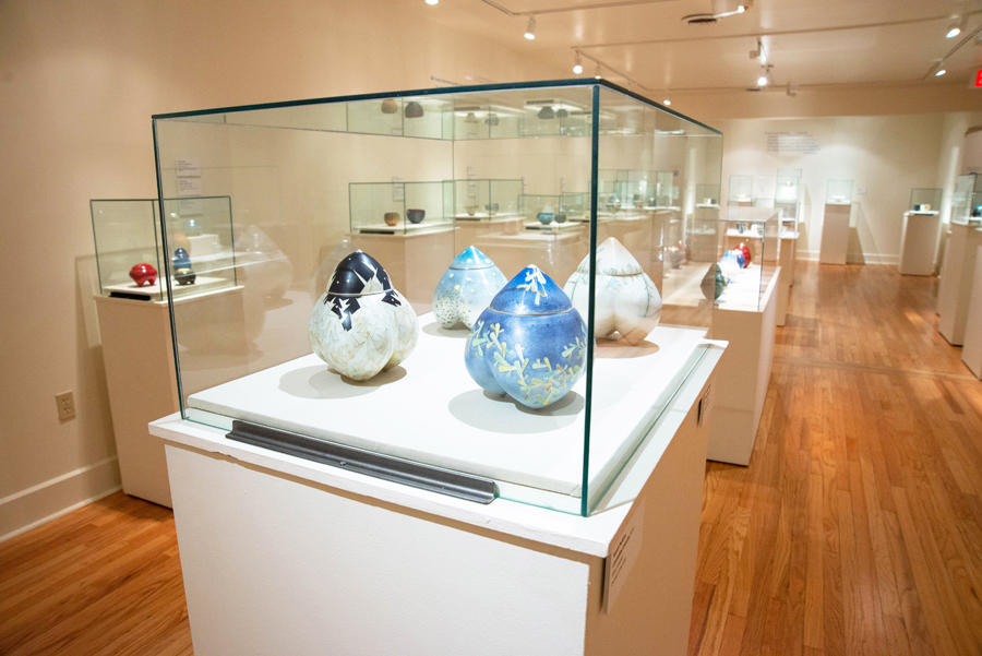 Installation view of Master Metalsmith: Sarah Perkins. Photo courtesy of the Metal Museum.